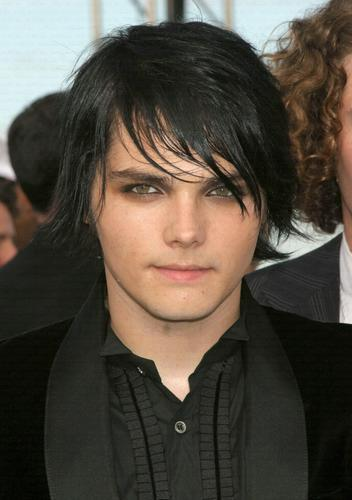Gerard Way with Black Hair